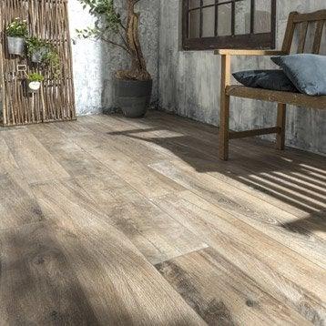 carrelage sol brun fonc effet bois heritage l20 x l120 cm - Carrelage Terrasse Imitation Bois