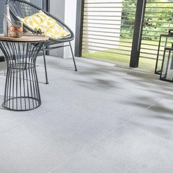 Carrelage sol gris effet béton Liverpool l.45 x L.45 cm