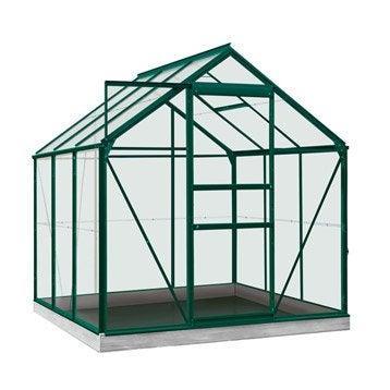 Serre de jardin en polycarbonate simple paroi Rainbow vert, 3.8 m²