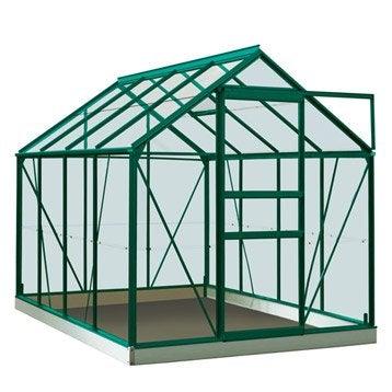 Serre de jardin en polycarbonate simple paroi Rainbow vert, 5m²