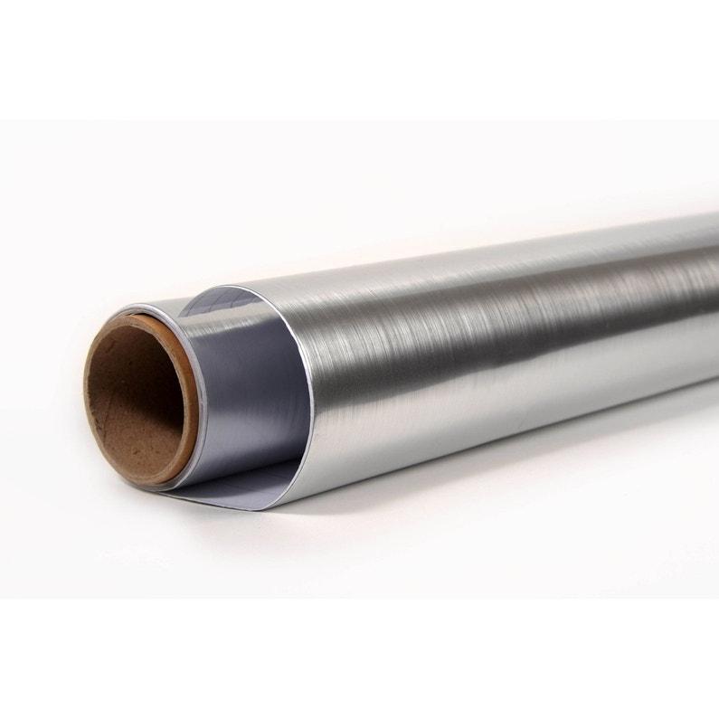 Feuille Mélamine Adhésive Aluminium L215 X L90 Cm