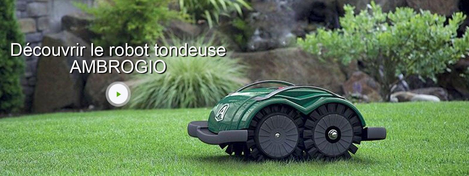 tondeuse robot ambrogio l60 200 m leroy merlin. Black Bedroom Furniture Sets. Home Design Ideas