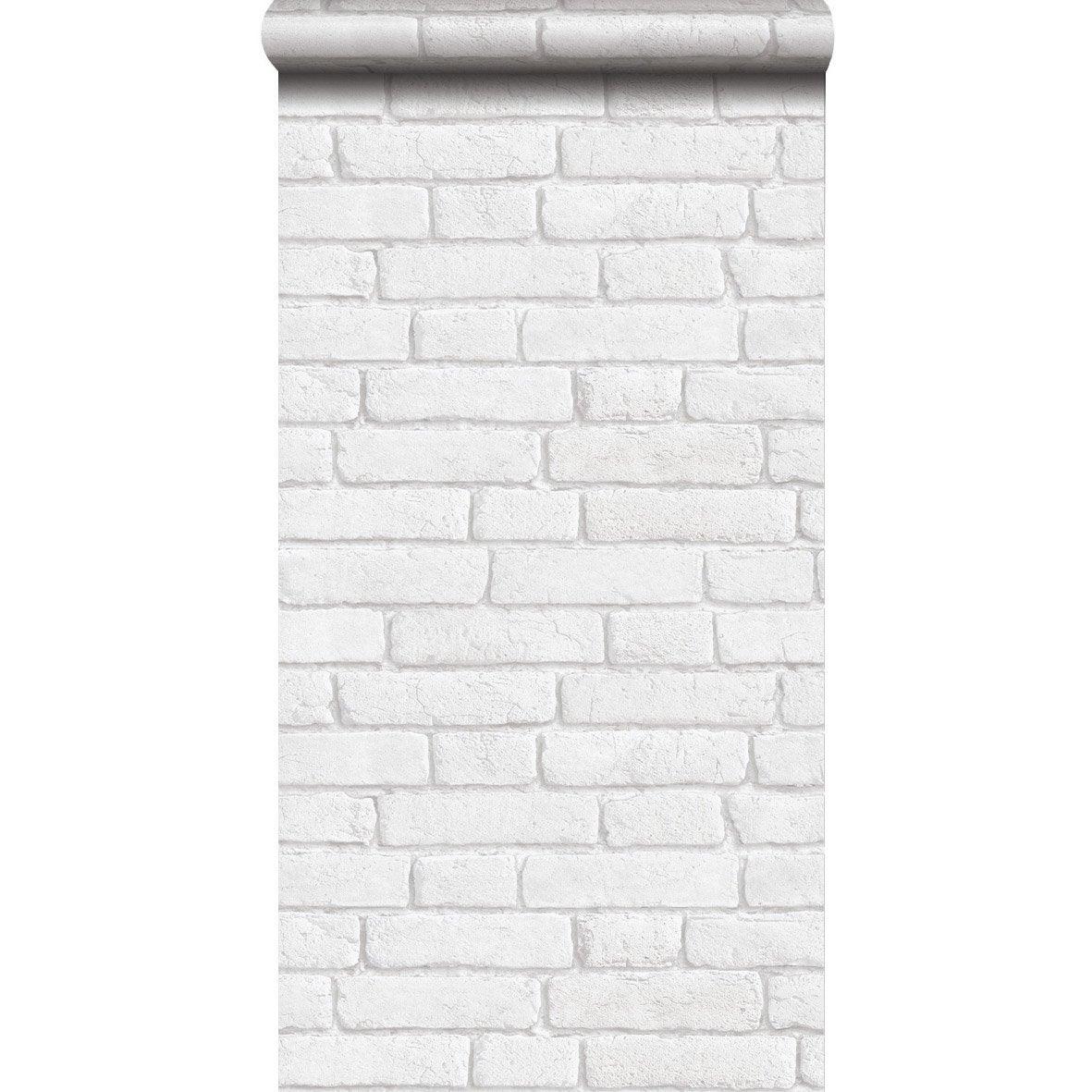 Papier peint intiss briques anciennes blanc leroy merlin - Papier peint intisse blanc ...