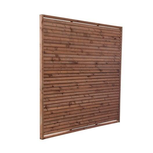 panneau bois persienné vera l180 x h180 cm marron