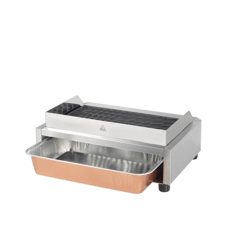 Barbecue Electrique Krampouz 400x250 Inox Et Noir Leroy Merlin