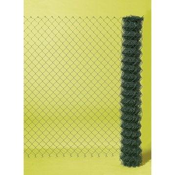Grillage rouleau simple torsion vert ,H.1 x L.20 m H.50 x l.50 mm