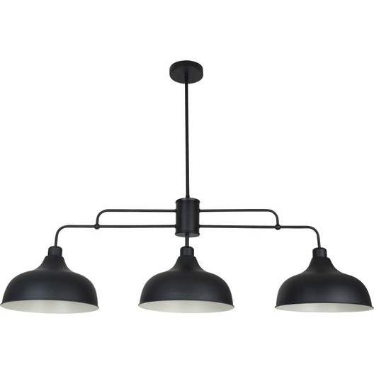 Suspension e27 style industriel lincoln métal noir 3 x 40 w corep