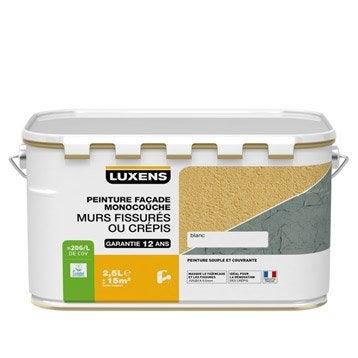 Peinture façade Murs fissurés LUXENS, blanc, 2.5 l