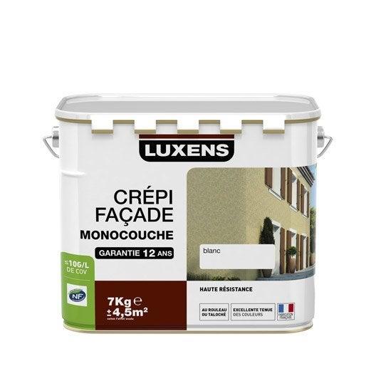 Cr pis fa ade luxens ton pierre 7 kg leroy merlin - Crepi monocouche exterieur ...