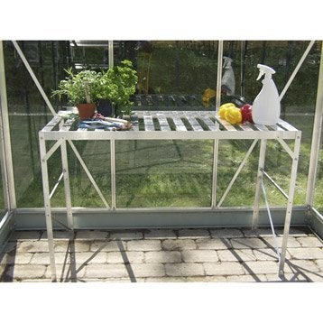 Table plateau aluminum anodisé naturel LAMS