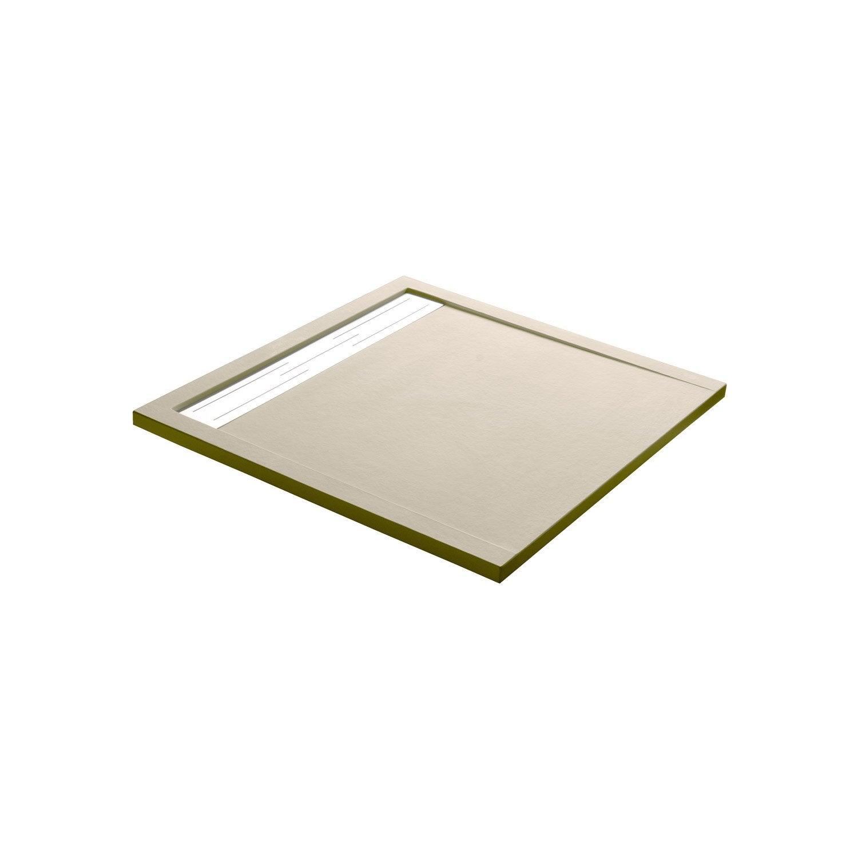 receveur de douche extraplat carr x cm r sine beige urban leroy merlin. Black Bedroom Furniture Sets. Home Design Ideas