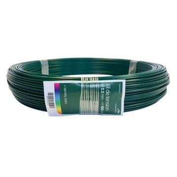 Fil de tension vert, l.100 m x P.2.2 mm