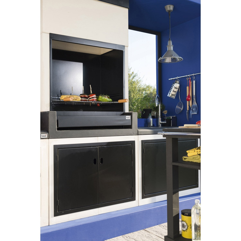 barbecue en b ton blanc cass et noir kitaway x. Black Bedroom Furniture Sets. Home Design Ideas