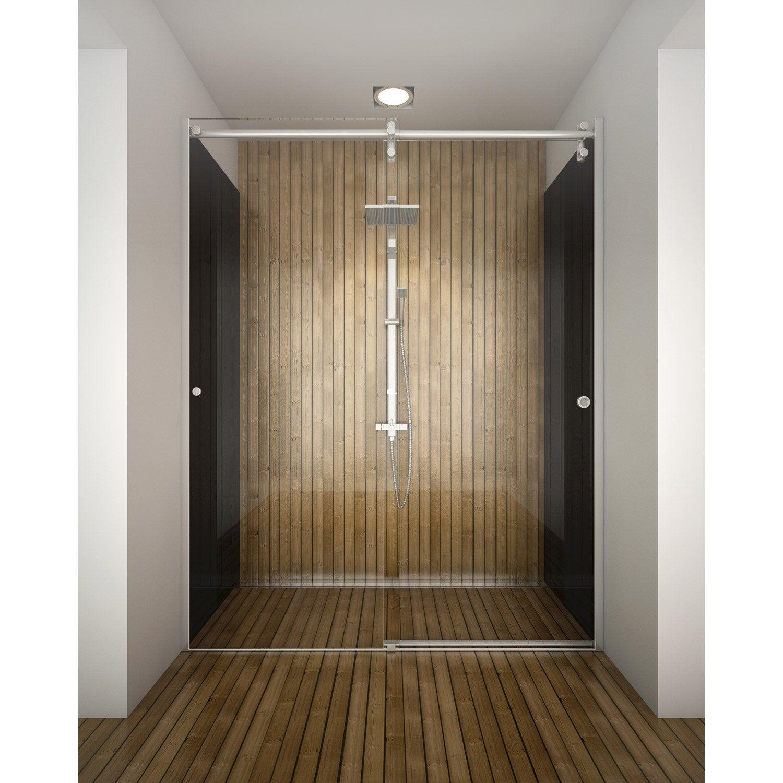 porte de douche coulissante 160 cm transparent ellipse 2 leroy merlin. Black Bedroom Furniture Sets. Home Design Ideas