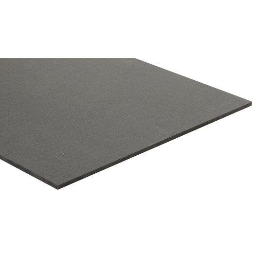 Panneau mdf m dium teint e masse gris anthracite valchromat l250 x l122 8 - Panneau imitation brique leroy merlin ...