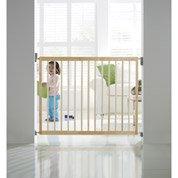 Barrière de sécurité enfant MUNCHKIN pivotante manuelle bois, L.63.5 /106cm