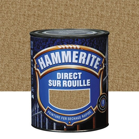 peinture fer ext rieur hammerite bronze l leroy merlin. Black Bedroom Furniture Sets. Home Design Ideas