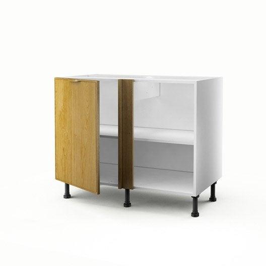 meuble de cuisine bas d 39 angle ch ne 1 porte origine x x cm leroy merlin. Black Bedroom Furniture Sets. Home Design Ideas