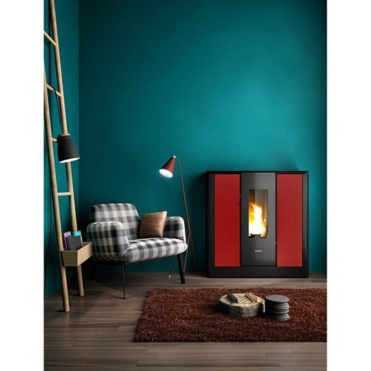 po le granul s freepoint style bordeaux 9 kw leroy merlin. Black Bedroom Furniture Sets. Home Design Ideas