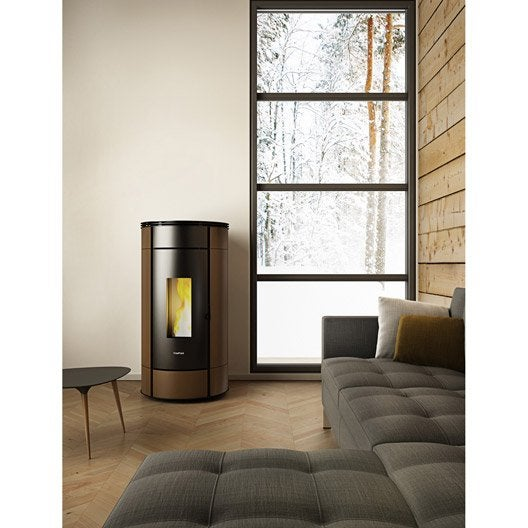 po le granul s freepoint globe moka 10 5 kw leroy merlin. Black Bedroom Furniture Sets. Home Design Ideas