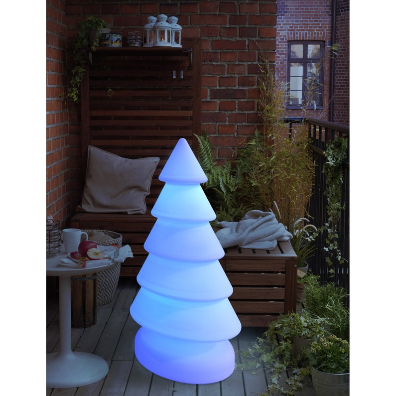 Sapin Lumineux Exterieur Snowy100 Led Integree 100 Lm Blanc
