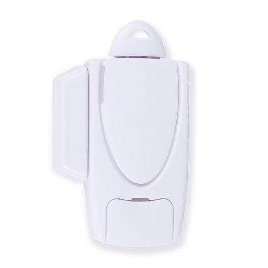 Mini alarme pour porte et fen tre avec cl goupille smartwares sc30fr leroy - Alarme fenetre leroy merlin ...