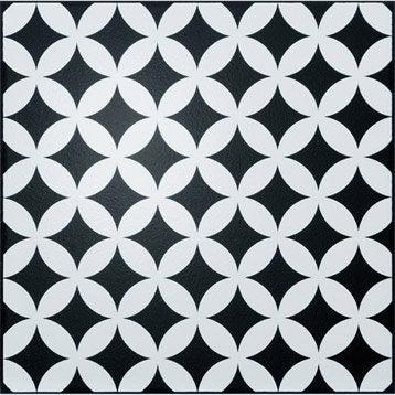 Décor Astuce corolle black n°0, l.20 x L.20 cm