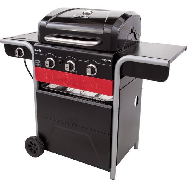Barbecue Au Charbon De Bois Et Au Gaz Char Broil Noir Et Rouge