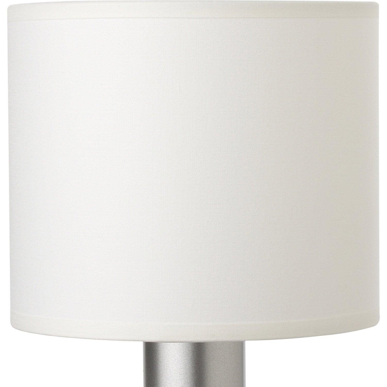 abat jour tube 15 cm toiline blanc blanc n 0 inspire leroy merlin. Black Bedroom Furniture Sets. Home Design Ideas