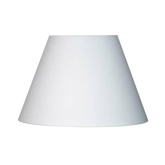 Abat-jour Sweet, 25 cm, toiline, blanc-blanc n°0 INSPIRE   Leroy Merlin