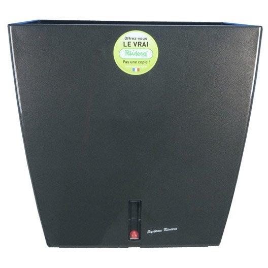 bac polypropyl ne r serve d 39 eau riviera x x cm gris leroy merlin. Black Bedroom Furniture Sets. Home Design Ideas