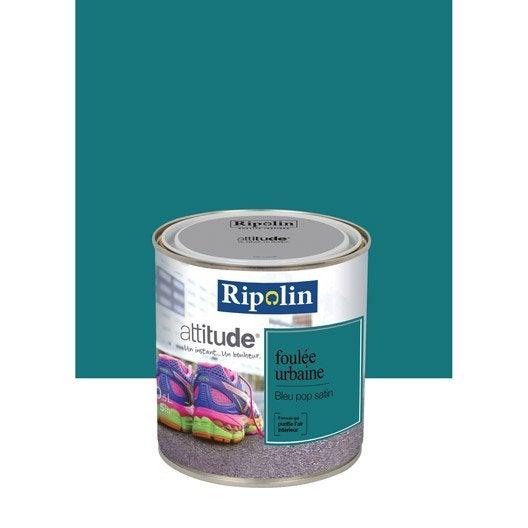 Peinture bleu pop ripolin attitude foul e urbaine 0 5 l leroy merlin - Peinture ripolin avis ...