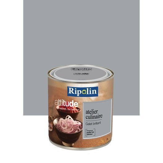 Peinture galet RIPOLIN Attitude atelier culinaire 0.5 l | Leroy Merlin
