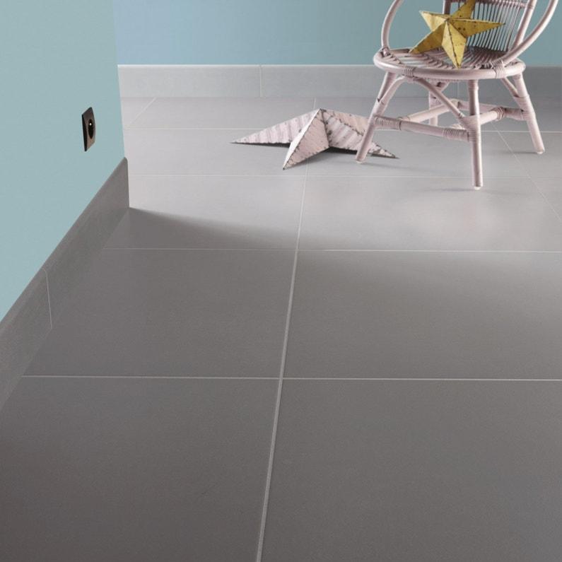 Jeune Carrelage sol et mur gris souris effet béton Fussion l.60 x L.60 UB-45