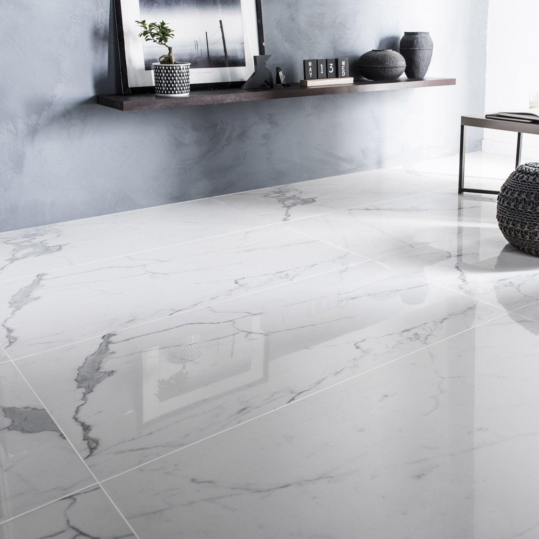 Carrelage sol et mur intenso marbre blanc Rimini l.60xL.120cm CERIM INSPIRED+39