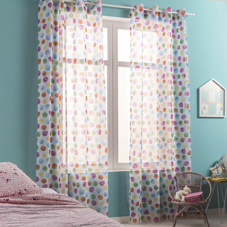 Des voilages multicolores pour une chambre d\'enfant rose et bleu ...