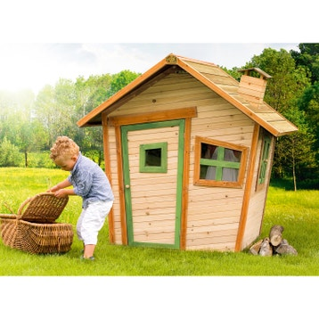 maisonnette cabane enfant en bois cabane jardin au meilleur prix leroy merlin. Black Bedroom Furniture Sets. Home Design Ideas