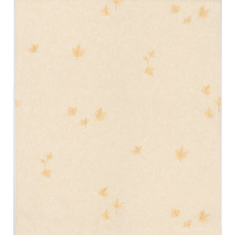 Papier Peint Vinyle Scala Feuilles Jaune Clair