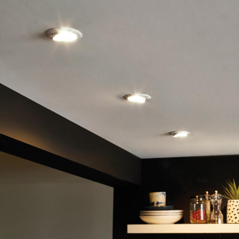 Kit 10 spots à encastrer Clane orientable led INSPIRE GU10 blanc ... 2510d55ff85d