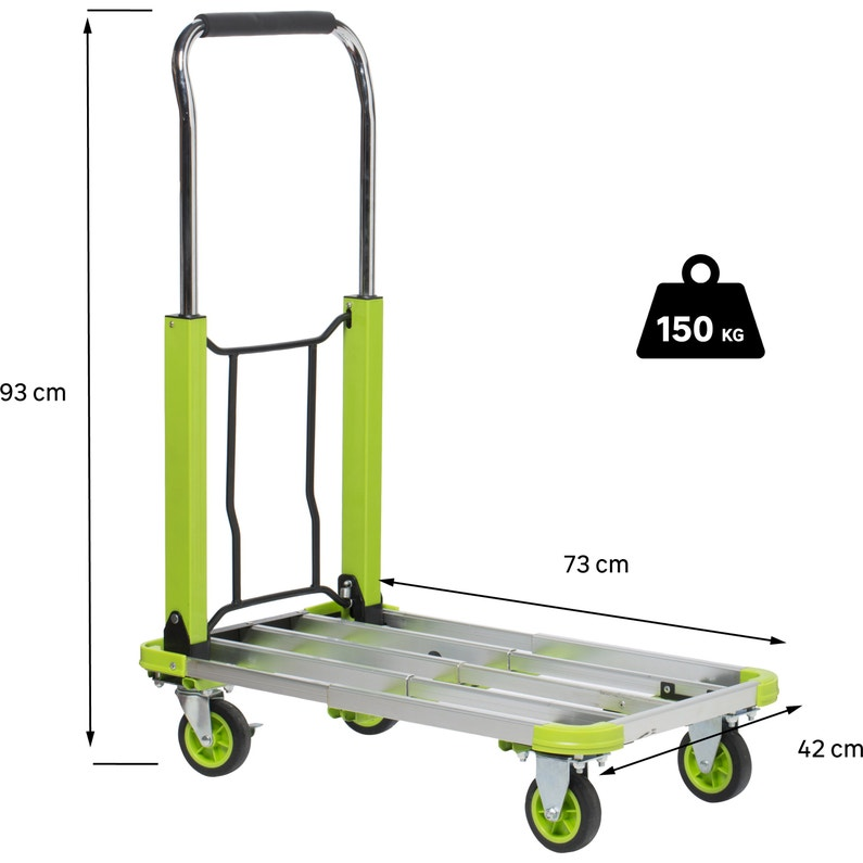 Chariot Pliable Standers Charge Garantie 150 Kg