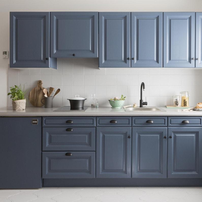 Peinture Cuisine Meuble Et Credence Decolab V33 Bleu Carbone Mat 0 75 L Leroy Merlin
