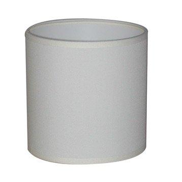 Abat-jour Tube, 30 cm, toiline, blanc-blanc n°0 INSPIRE