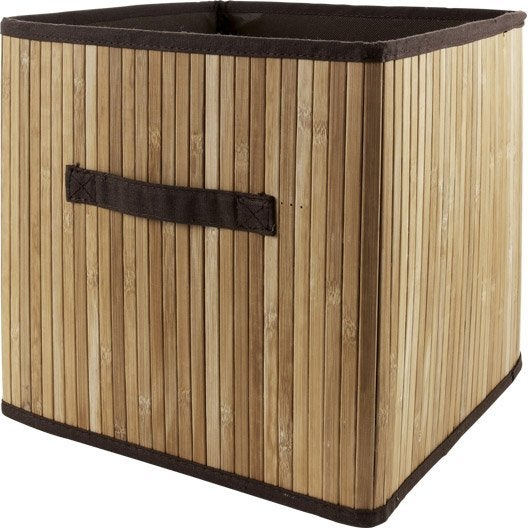 panier de rangement multikaz naturel x x cm leroy merlin. Black Bedroom Furniture Sets. Home Design Ideas