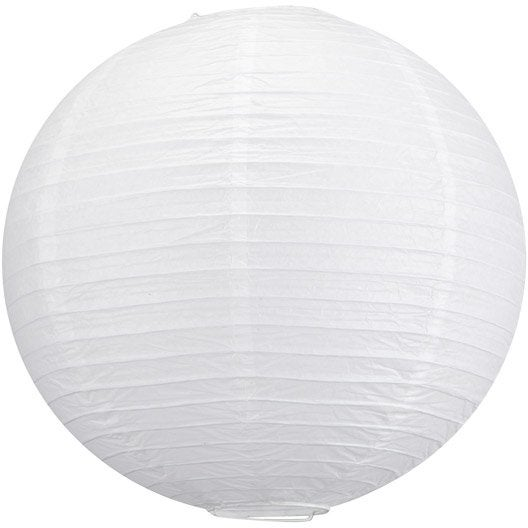 Suspension zen goa papier blanc 1 inspire leroy merlin for Suspension luminaire papier