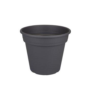 Pot plastique NATERIAL Diam.22.04 L.22.04 x l.22.04 x H.18.61 cm anthracite