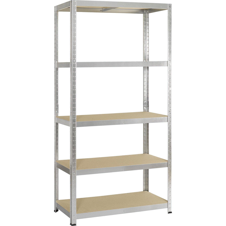 etag re m tal strong galvanis 5 tablettes x x cm leroy merlin. Black Bedroom Furniture Sets. Home Design Ideas