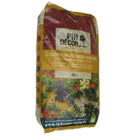 Paillage naturel ecorce pin bille argile copeaux - Copeaux de bois colores ...