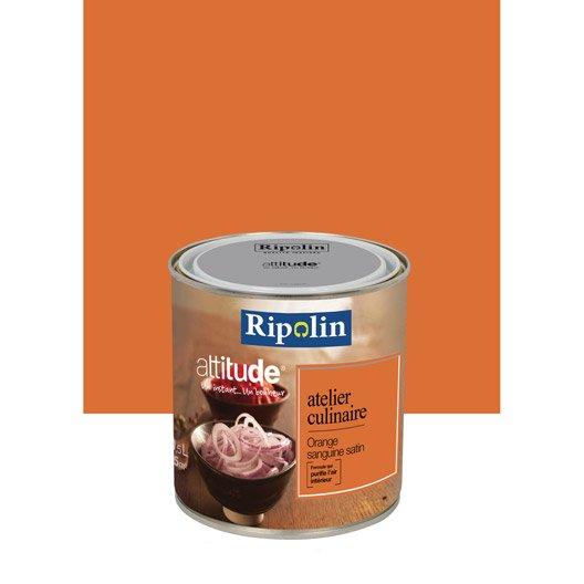 peinture orange sanguine ripolin attitude atelier With peinture murale couleur lin 7 peinture orange sanguine ripolin attitude atelier