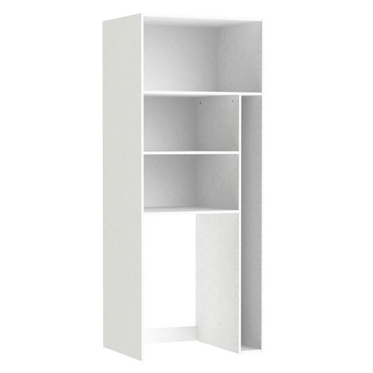 caisson buanderie spaceo home 200 x 80 x 60 cm blanc leroy merlin. Black Bedroom Furniture Sets. Home Design Ideas