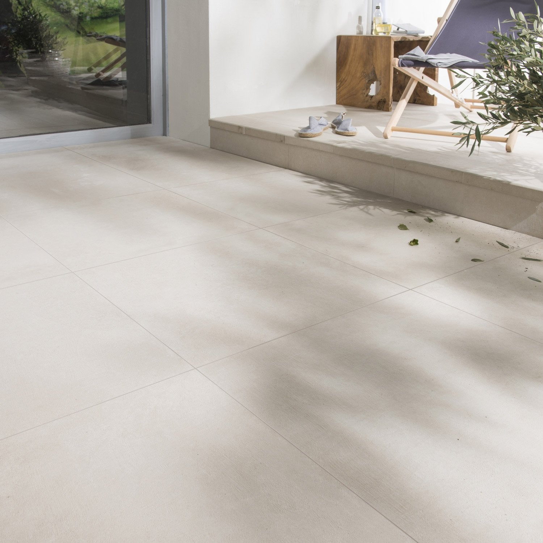 carrelage sol ivoire effet b ton houston x cm leroy merlin. Black Bedroom Furniture Sets. Home Design Ideas